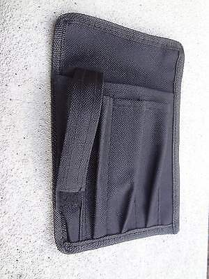 Nurse Nylon 5 Scrub Pocket Organizer Pal With Belt Loop Black Brand New