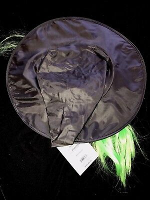 girls HALLOWEEN WITCH HAT NEW NWT green hair attached COSTUME ACCESSORY cute @@ - Cute Witch Hat