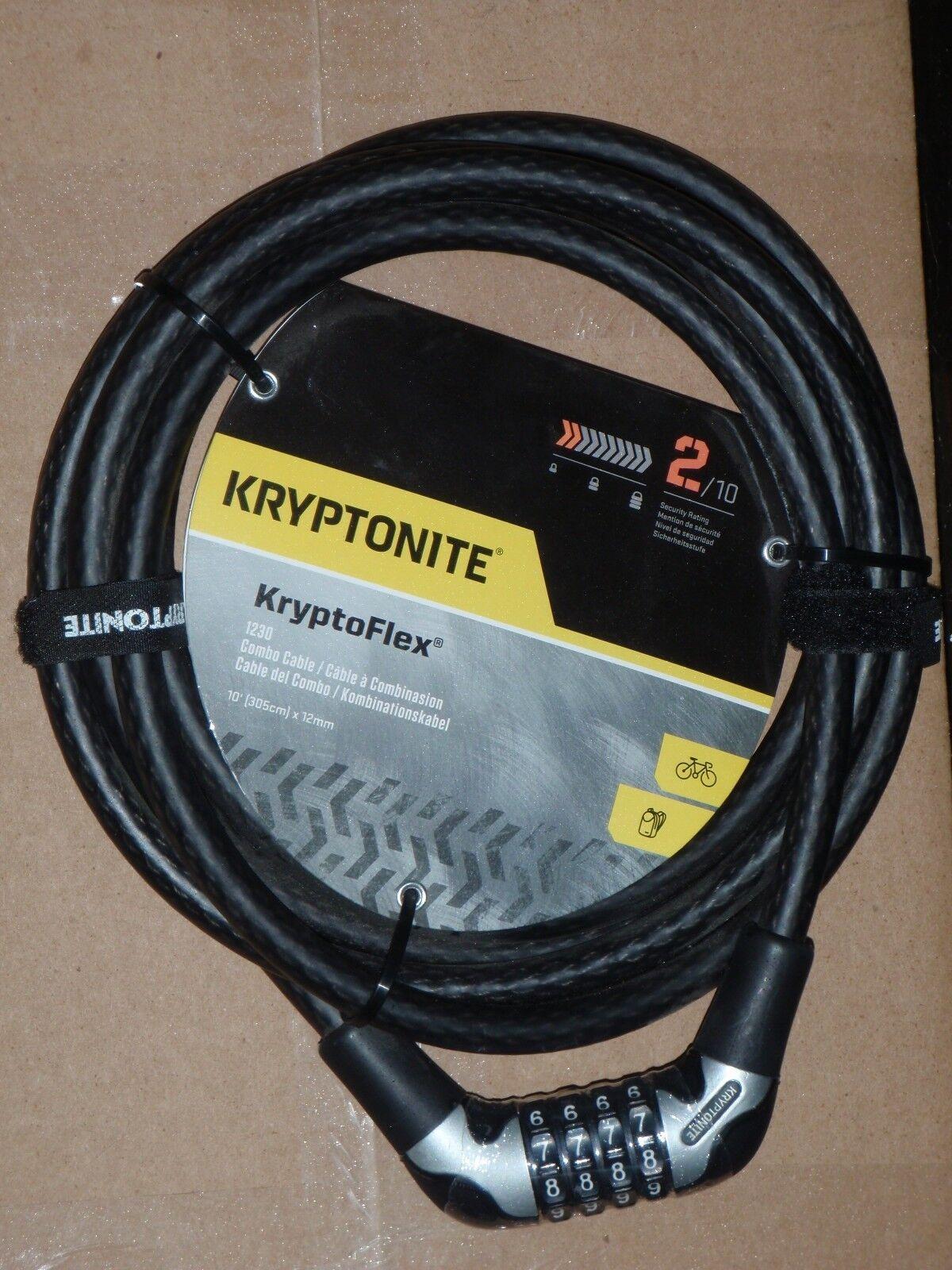 Kryptonite Kryptoflex 1230 Combo Cable 12mm Bicycle Lock Bik