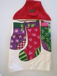 Xmas Hanging Hand Towel - Hanging Stockings - NEW