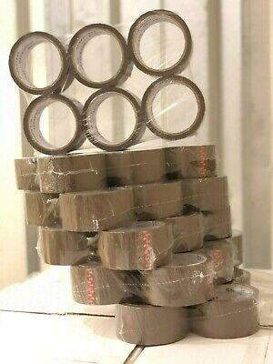 1-6 -12-36 Rolls Brown Tan Packing Carton Sealing Tape 1.75 Mil 2 X 55 Yards