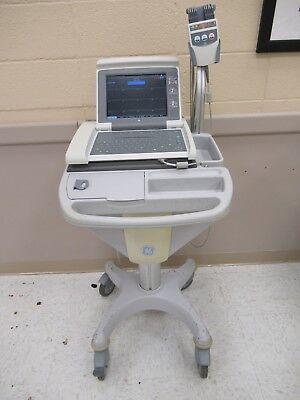Ge Mac 5500 Portable Ecg Ekg Machine Unit Cart Analysis System Acquisition