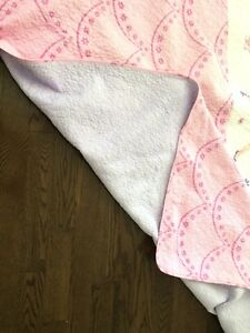 Double bed pink or purple fairy blanket