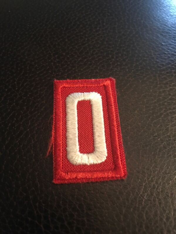Cub Boy Scouts of America Pack/Troop Number 0 Patch, Red & White