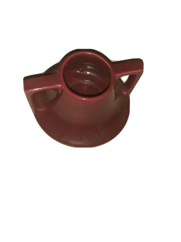 Bauer Pottery  Burgundy  .