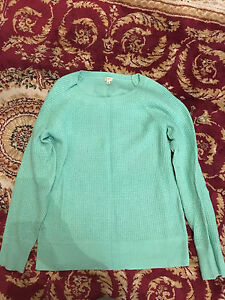 J Crew women's mint green sweater - medium