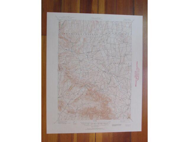 Durham New York 1951 Original Vintage USGS Topo Map