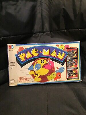 Vintage Pac-Man Board Game 1980 Milton Bradley Missing Some Of The Marbles. (S)