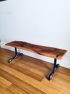 VINTAGE RECLAIMED BARN BOARD COFFEE TABLE INDUSTRIAL PIPE & wood