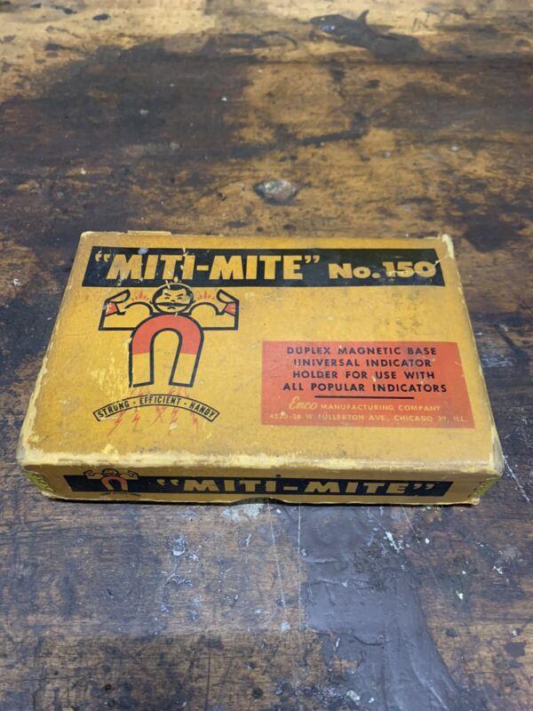 Vintage Miti Mite No. 150 Magnetic Base Indicator Holder