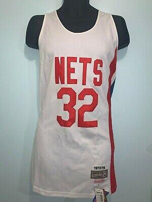 Julius Erving 32 NBA Hardwood Classic New York Nets Swingman Jersey Man White
