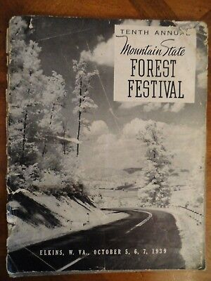 Mountain State Forest Festival 10th Annual 1939 Program - Elkins WV