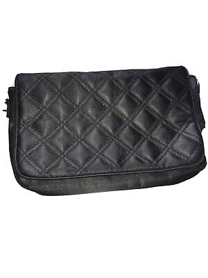 Gorgeous Fabric quilted Black Clutch Bag