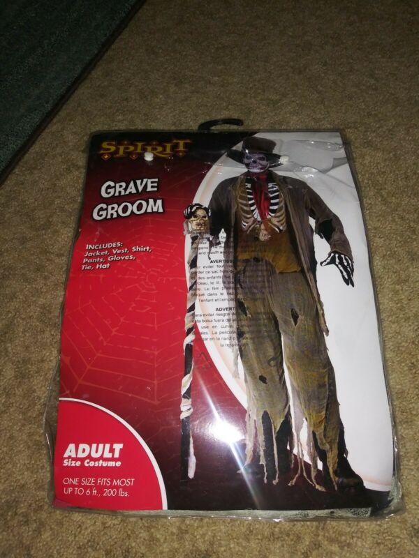 Spirit Grave Groom Adult Size Halloween Costume New In Package
