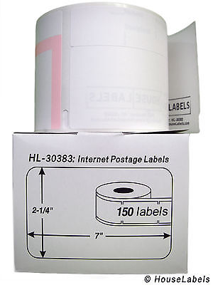 Dymo 30383 3-part Internet Postage Labels 2-14 X 7 - 2 Rolls Of 150