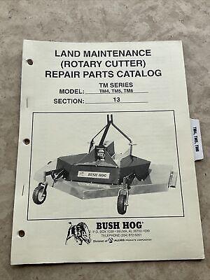 Bush Hog Tm4 Tm5 Tm6 Cutter Mower Parts Manual