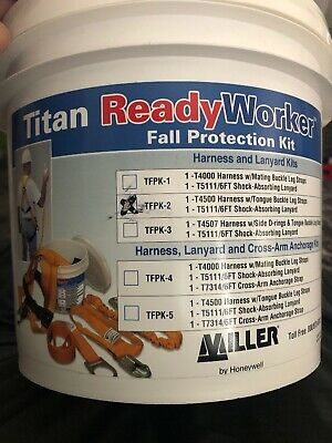 Miller Titan By Honeywell Tfpk-2 Ready Worker Fall Protection Kit