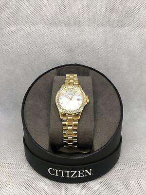 Citizen Eco-Drive Gold Plated Ladies Watch!EW1842-55D! BNIB! RRP £199!
