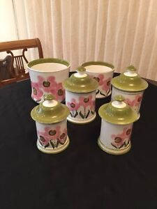 Hand Painted Canister Set from Portugal
