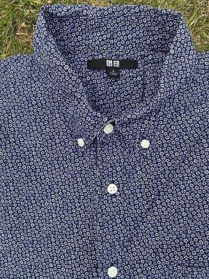 Uniqlo Ladies Flower Blue Shirt Size L