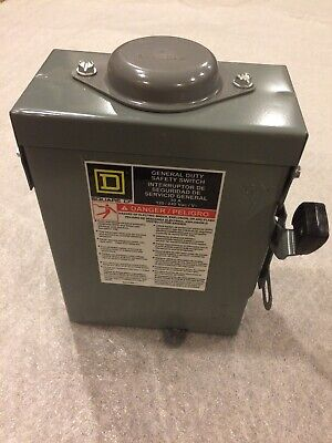 Square D D211nrb General Duty Safety Switch 30a 120240v
