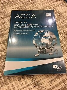 ACCA paper F7 financial reporting