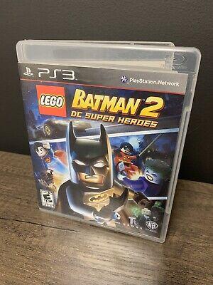 PS3 LEGO BATMAN-2 - DC Super Heroes Tested - Ships Fast CIB Complete manual