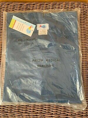 Navy Medical Scrubs (Medical Scrubs TOP Made by Prism NEW! Navy Blue Size Small )