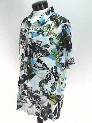 LRG Hawaiian Shirt Lifted Research Group Gangster Al Capone Miami Men's L New