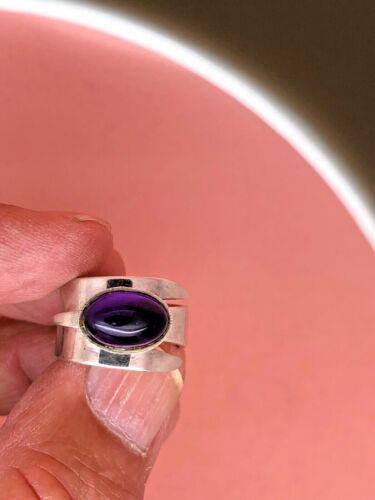 David Andersen Norway Sterling Ring, Adjustable Bypass, Purple Stone, Beautiful