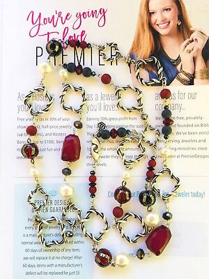 Hematite Plated (Premier Designs Jewelry BORDEAUX Hematite plated/Glass/Faux pearl)