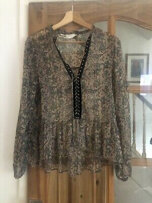 Bnwot Zara Ladies Blouse Size L New