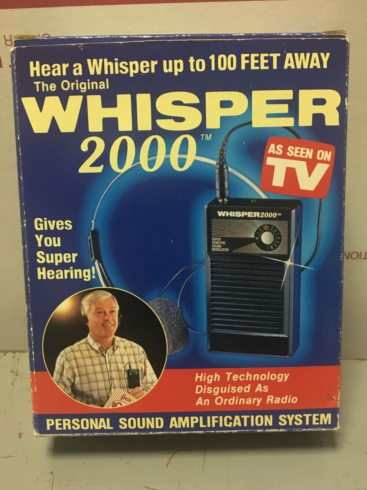 Whisper 2000 Personal Sound Amplification Hearing 1989 Model WS-2000  - $19.99
