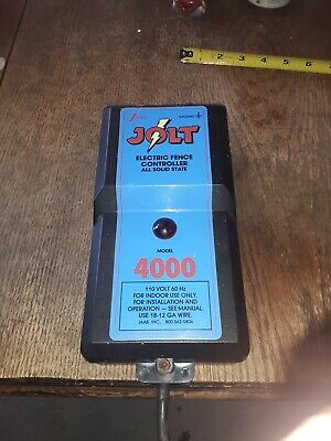 Jolt 4000 Joules Electric Fence Controller--preowned--turns On
