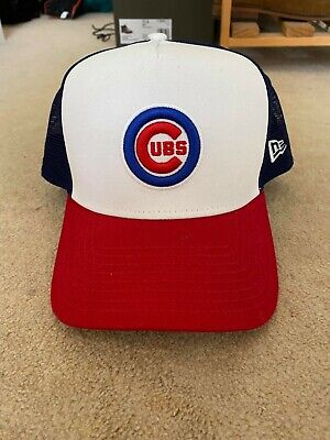 New Era Chicago Cubs London Games Trucker Cap, Never Worn, One Size Fits All
