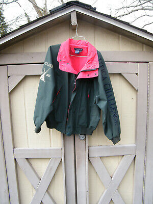 Vintage Nautica Challenge J-Class Jacket Size M Green with Red