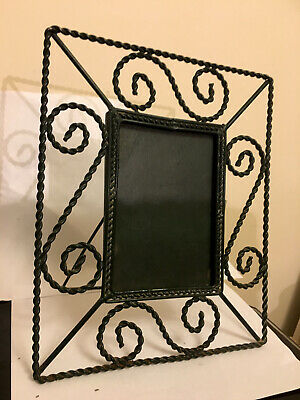 Vintage 1930s Twisted Wire Work Framed Dressing Table Mirror with Some Rust
