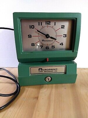 Acroprint Model 150er3 Automatic Time Recorder No Keys