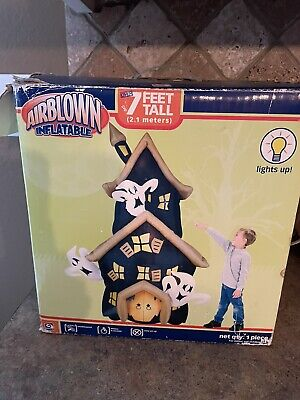 Gemmy Halloween Haunted House Airblown Inflatable 7 ft