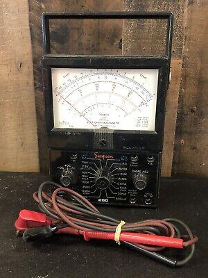 Simpson 260 Series 7 Volt Ohm Multimeter Milliammeter Ac Dc Meter Selling As Is