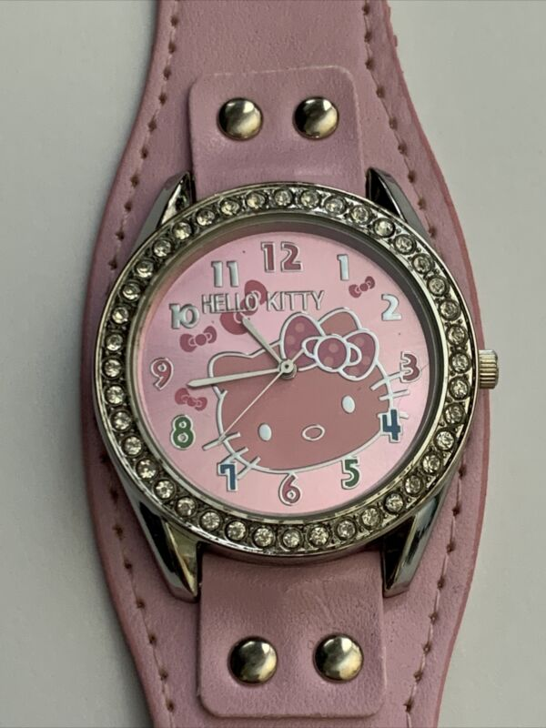 Hello Kitty Watch.   Super Cute!!  New Battery!  Pink Band.