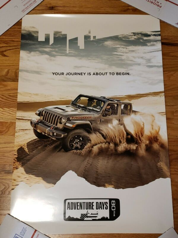 "2020 Jeep Gladiator Mojave Dealer Only Promo Poster 24"" x 36"" ADVENTURE DAYS"