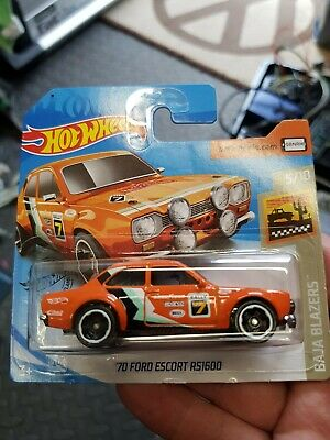 Hot wheels '70 Ford RS1600 Mk1 Escort (Orange) 2020