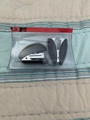 Mini Stapler Set Translucent Black Includes Stapler And Staple Remover