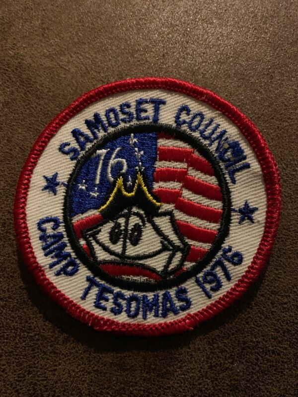 VINTAGE BOY SCOUT - Camp Tesomas 1976 - Samoset Council - Embroidered Patch