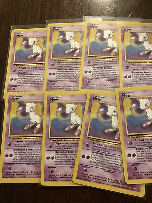 (19) POKEMON MEW PROMO CARD LOT #8 NRMT+