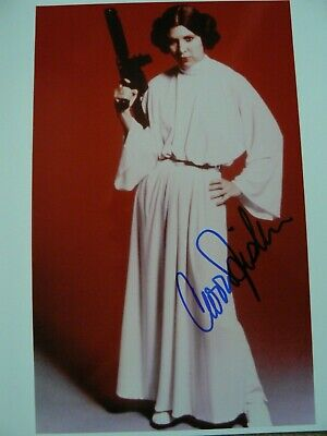 STAR WARS CARRIE FISHER SIGNED PHOTO COA