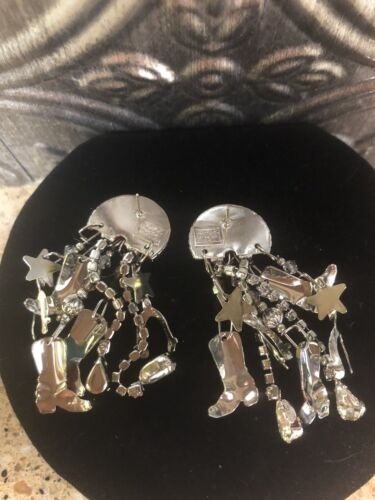 Lunch At The Ritz COWBOY Pierced Earrings - $82.00