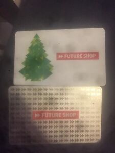 Two future shop gift cards
