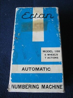 Ertan Automatic Numbering Machine Model 188 With Original Box